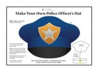 your child can make their own police officers hat with
