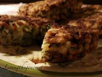 Spinach rice and feta burgers!
