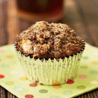 Morning Glory Muffins These hearty muffins can be made before you even step outside. They may taste sweet, but they're bite-size nutritional powerhouses. Flaxseeds add heart-healthy omega-3 fatty acids, and the rolled oats add a healthy portion of fib...