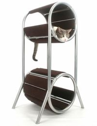 tall modern cat condo | modern cat design