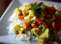 Coconut curry with cauliflower and carrots----seems interesting