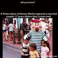A Photo taken at Disney World captured a married couple 17 years before they'd even met!