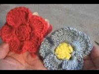 Crochet Pansy Flower Variation 1